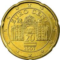 Autriche, 20 Euro Cent, 2007, SPL, Laiton, KM:3086 - Autriche