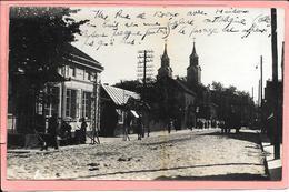 Carte Photo Kowno Kovno Kaunas Une Rue Avec Maison En Bois - Lituanie