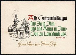 C5993 - Glückwunschkarte Neujahr - Spruchkarte - Schäfer Verlag Plauen DDR - Christianisme