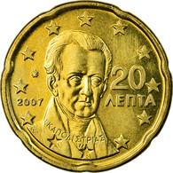 Grèce, 20 Euro Cent, 2007, SPL, Laiton, KM:212 - Grèce