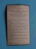DP Joanna DE HERDT () Antwerpen 14 Jan 1866 - 15 Sept 1932 ( Zie Foto's ) ! - Décès