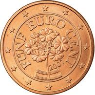 Autriche, 5 Euro Cent, 2007, SPL, Copper Plated Steel, KM:3084 - Autriche