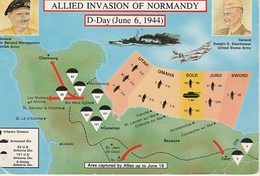 ALLIED INVASION OF NORMANDY   D DAY  6.6.1944    Mint   2 Scans - War 1939-45
