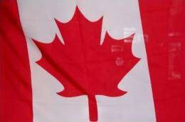 BANDIERA CANADESE ECONOMICA IN POLIESTERE BANDIERA CANADA - Bandiere