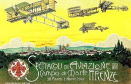 [MD3532] CPM - RIPRODUZIONE - FIRENZE 1910 - SPETTACOLI DI AVIAZIONE CAMPO DI MARTE - PERFETTA - NV - ....-1914: Precursori