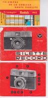 DOCUMENTATION POUR APPAREIL PHOTOGRAPHIQUE KODAK  AGFA TYPE 2620 SILETTE RECORD - Zubehör & Material
