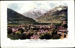 Artiste Cp Reisch, F. A. C. M., Meran Merano Südtirol, Blick Auf Den Ort Gegen Vintschgau - Other