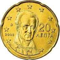 Grèce, 20 Euro Cent, 2008, SPL, Laiton, KM:212 - Grèce