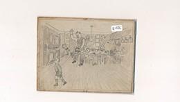 """AC -B1586-Dessin """"fessée"""" Sur Carton Rigide (prix Frais Compris) - Vieux Papiers"""