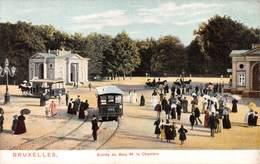 """M08184 """"BRUXELLES-ENTREE DU BOIS DE LA CHAMBRE"""" ANIMATA-TRAM A CAVALLO E CARROZZE  CART. POST. ORIG. NON SPEDITA - Monumenti, Edifici"""