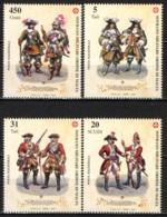 SMOM - 2004 -   CAVALIERI GEROSIMILITANI DEL XVII-XVIII SECOLO IN ABITO MILITARE - MNH - Sovrano Militare Ordine Di Malta