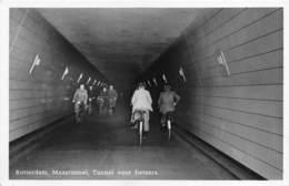 "M08185 ""ROTTERDAM-MAASTUNNEL-TUNNEL VOOR FIETSERS"" ANIMATA CART. POST. ORIG. NON SPEDITA - Rotterdam"