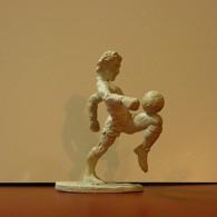 Rubber Figure Football Stars Made In Portugal Franco Baresi 8cm Tall - Figurillas