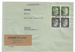 III-664 / DRITTES REICH - Zusammendruck-Frankatur Hitler + 5 Pfg. (2x) Aus Lippstadt 1942 - Lettres & Documents