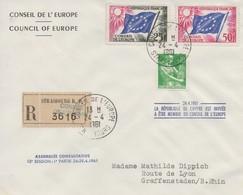 CE297 24/4/61  - Recommandé - 12ème Session Du Conseil De L'Europe (la République De Chypre Est Invitée)   TTB - European Ideas