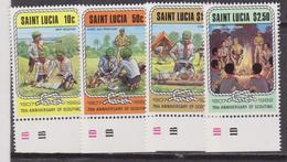 St. Lucia Scout Set MNH - Nuovi