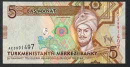 Turkmenistan 5 Manat 2009 UNC - Turkmenistan