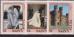 St. Lucia Diana Set MNH - Donne Celebri
