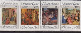 St. Lucia 1981 Painting Christmas Natale Navidad Noel Set MNH - Natale