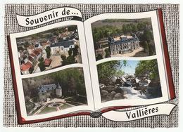 VALLIÈRES (Creuse) - Place De L'Eglise, Château Du Plaf Et De La Villeneuve, Le Thaurion - édit. LAPIE - CPM - Non Classificati