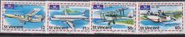 St. Lucia Aeroplani Mail Service Set MNH - Aerei