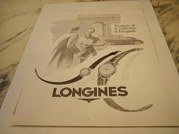 ANCIENNE PUBLICITE TRIOMPHE PERFECTION MONTRE LONGINES 1952 - Joyas & Relojería