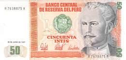 50 Intis Peru 1987 UNC - Perú