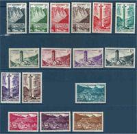 "Andorre YT 138 à 153  Ss 150 151 153 "" Paysages "" 1955-58 Neuf** - Nuovi"