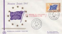 CE303 19/9/61  - Réunion Jointe Du Conseil De L'Europe + A.P.E.  (1ère Participation De Chypre)  TTB - European Ideas