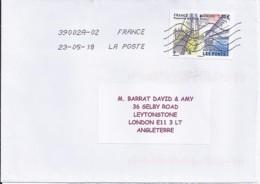 TP N° 5218  SUR LETTRE DE 2018 POUR L'ANGLETERRE - Marcophilie (Lettres)