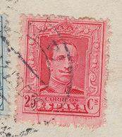 Spain ALBINO DIAZ, BILBAO 1927 Cover Brief HAMBURG Germany Alphonse XIII. ERROR Variety Mult. 'Cliché Scratches' !! - Abarten & Kuriositäten