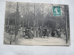 CPA 94 VAL DE MARNE-BOIS DE VINCENNES : Scène Animée-La Voiture Aux Chèvres -La Promenade - Vincennes