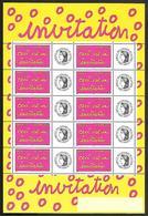 P208  Feuillet De 10 Timbres N°F3760A N++person. Cérès Gome Brillante - Personalized Stamps