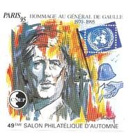 CNEP Paris 95 Hommage Au Général De Gaulle 1970-1995 49ème Salon Philatélique D' Automne - CNEP