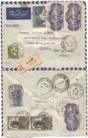 PA N° 15 PAIRE +1+ N°393X2+393+284A LETTRE AVION REC PARIS 2.8.1938 POUR BRESIL AFFRANCHISSEMENT  RARE - Postmark Collection (Covers)