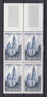 N° 1165 Cathédrale De Senlis: Beau Bloc De 4Timbres Neuf Impeccable Sans Charnière - Unused Stamps