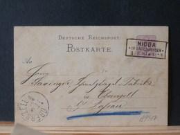 A9317   CP   ALLEMAGNE OBL. NIDDA  1881 - Deutschland