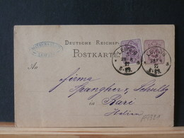 A9321   CP   ALLEMAGNE 1877  POUR ITALIE - Germany