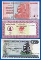 Zimbabwe  6  Billets  Dans  L'etat - Zimbabwe