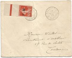 SEMEUSE 10C FM BDF LETTRE CAVALAERIE 6E DIVISION 10 SEPT 1913 - Marcophilie (Lettres)