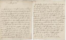 BUHL 1793 Lettre En Franchise Texte En Allemand - Marcophilie (Lettres)