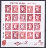 """N° F4871  Feuillet """" Salon Du Timbre De 2014"""" Cérès Composé De Façon Aléatoire De 5 Séries: 4871 à 4874 Neuf Impeccable - Blocs & Feuillets"""