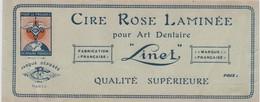Etiquette/ Cire Rose Laminée Pour Art Dentaire/LINET/ Pour Le Progrés Dentaire Français / Vers 1910 - 1930       ETIQ161 - Altri