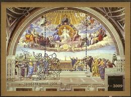 Vatican Vatikaanstad 2009 Yvertn° Bloc 35 (°) Oblitéré Used Cote 10 Euro Raphaël - Blocs & Feuillets