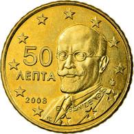 Grèce, 50 Euro Cent, 2008, SPL, Laiton, KM:213 - Grèce