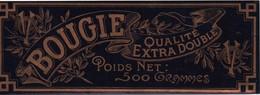 Etiquette/Bougie/Qualité Extra Double/ Poids Net 500 Gr/ Chromo Doré /  C V /Vers 1910 - 1930       ETIQ162 - Altri