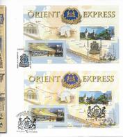 2010 Österreich + Rumänien Block FDC Orient Express - Joint Issues