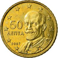 Grèce, 50 Euro Cent, 2007, SPL, Laiton, KM:213 - Grèce