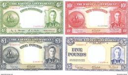 Bahamas 4 Note Set 1936 COPY - Bahamas