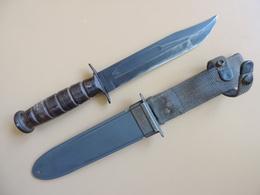 Couteau USN MK2 CAMILLUS à Marquage Sur Lame, US WW2. - Armes Blanches